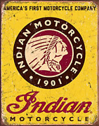Indian Motorcycles Exterior Accessories Since 1901 Tin Sign 13 16in