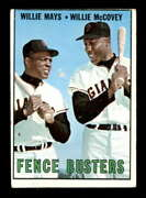 1967 Topps 423 Willie Mays/willie Mccovey Fence Busters Vg X2226820