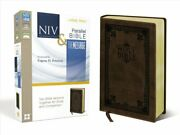 Niv, The Message, Parallel Bible, Large Print, Leathersoft, Bro... 9780310410263