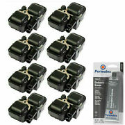 Grease And 8 Pack Engine Ignition Coil For 1997-2011 Mercedes-benz 2.0l V8 2034cc