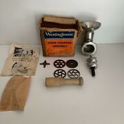 50andrsquos Westinghouse Food Meat Grinder Assembly Fg 91 For Westinghouse Mixer Fm 81
