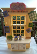 Vintage 1999 Barbie Arts And Craft Studio Pale Yellow Shelf W/5-pictures