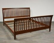 Ethan Allen American Impressions King Sleigh Bed Cherry 24-5640-6 224 Finish