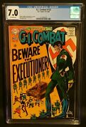 G.i. Combat 132 Cgc 7.0 Ow Pages Haunted Tank Silver Age 1968 Dc Comics