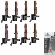 Grease And 8 Pack Engine Ignition Coil For Ford Lincoln Mercury 6.7l 408cu V8 V10