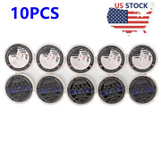 Us Police Officers Challenge Coin Thin Blue Line Commemorative Law Enforcement