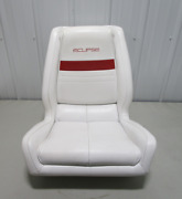 1991 Wellcraft 186 Xl Eclipse Boat White Red Captains Helm Chair Seat 23 X 22