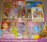 Disney Sofia The First Castle Dress-up 100 Wodden Clothing Pieces ,doll House