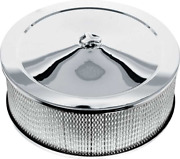 Oer 14 X 5 Chrome Low Profile Open Element Air Cleaner Buick Chevy Pontiac Olds