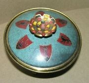 Nice 3 Footed Metal Nicely Decorated Lidded Metal Candy Dish Hakuli Israel