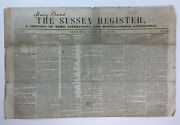 Antique Newspaper The Sussex Register Newton Nj Secession Lincoln January 1861