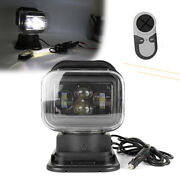 12/24v Dc Car Remote Control Led Search Light Auxiliary Lamp For Suv Boat Farm