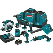 Makita 18-volt 8-piece Combokit Assorted Tools Lithium-ion Cordless System Teal