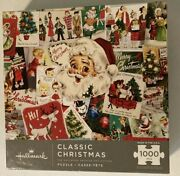 Hallmark Classic Christmas Jigsaw Puzzle 1000 Pieces Made In Usa New Vintage