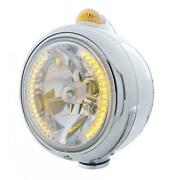 United Pacific 32426 Chrome Guide 682-c Headlight H4 W/ Amber Led