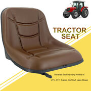 Tractor Seat Universal Forklift Seat Lawn Mower Seat Easy Installation Pvc Brown