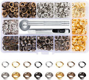 400 Set Grommet Kit Eyelet Hole Punch Tool Leather Craft Clothing Canvas 1/4 In