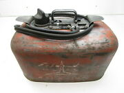 Vintage Evinrude Cruis-a-day Outboard Boat 6 Gal 2 Line Pressure Gas Fuel Tank
