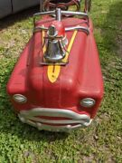 Antique Fire Truck Pedal Car Collectible