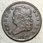 1829 Classic Head Half Cent Almost Uncirculated 0922-05