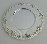 Royal Doulton Old Country Roses Charger Plates Silver Plate Set Of 4