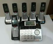 Vtech Ds6151 Dect 6.0 2-line Digital Answering Phone And 5 Cordless Handsets