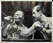 Rocky Marciano To John Hi Authentic Signed 17x19 Black And White Photo Bas A10916