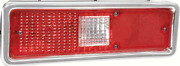 Oer Left Hand Tail Lamp Assembly With Square Backup Lens 1971-1972 Chevy Ii Nova