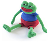 Pepe The Frog Plush - Matt Furie - Hashtag Collectibles - Fast Same Day Ship