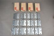 Hager Hinges 3 1/2 Non-template Butts Steel Rc 1241 Us-26d Dull Chrome Lot Of 12