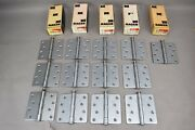 Hager Hinges 4x4 Us-26d Non-template Butts Steel Full Motise Slim Line Lot Of 13