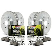 K530-26 Powerstop 4-wheel Set Brake Disc And Pad Kits Front And Rear New For Audi