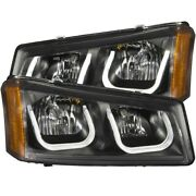 111312 Anzo Headlight Lamp Driver And Passenger Side New For Chevy Avalanche Lh Rh