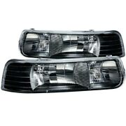 111155 Anzo Headlight Lamp Driver And Passenger Side New For Chevy Suburban Lh Rh