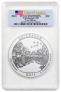 2011 Chickasaw Np 5 Oz Silver Atb America The Beautiful Coin Pcgs Ms69 Dmpl Fs
