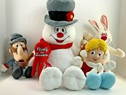 Build A Bear Frosty The Snowman Set Of 4 Plush Characters Light Up