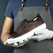 Special Edition Trainer With Fire Museum Hand Patina From Robert August W/ Shoe