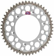 Renthal Grooved Twinring Rear Sprocket 47t Silver For 2011-2015 Yamaha Wr250f