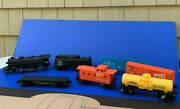 1970 Lionel Grand Trunk And Western 8042 Die-cast Engine W/ 6 Cars Complete And Mint