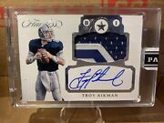 2017 Flawless Dallas Cowboys Troy Aikman Auto 1/1 Insane Patch Very Clean Card