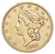 1852 20.00 Liberty Head Gold Double Eagle - Circulated 0083