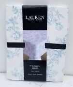 Toile Blue White Floral 100 Cotton Tablecloth Round 70 In