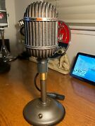 1940and039s Altec 639b Microphone Abc Works W/w.e. Desk Stand And Coles Adapter