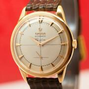 1958and039s Omega Geneve 2981 Cal. 491 18k Solid Rose Gold Automatic Menand039s Watch
