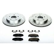 K1563 Powerstop 2-wheel Set Brake Disc And Pad Kits Rear New For Chevy Corvette