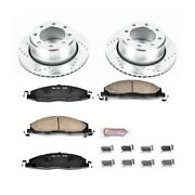 K5487 Powerstop Brake Disc And Pad Kits 2-wheel Set Rear New For Ram Truck 2500