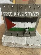 Banksy Souvenir Walled Off Hotel Sculpture With Receipt Free Palestine