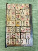 Mahjong Tile Set Chinese Table Game Antique Retro Finest Period Items Old