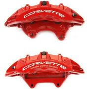 Set-ac1722711-f Ac Delco 2-wheel Set Brake Calipers Front Driver And Passenger New