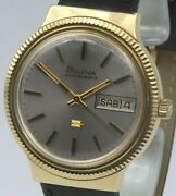 18ct Gold Bulova Accuquartz Day Date.1973.cal 2242.outstanding Condition.going.